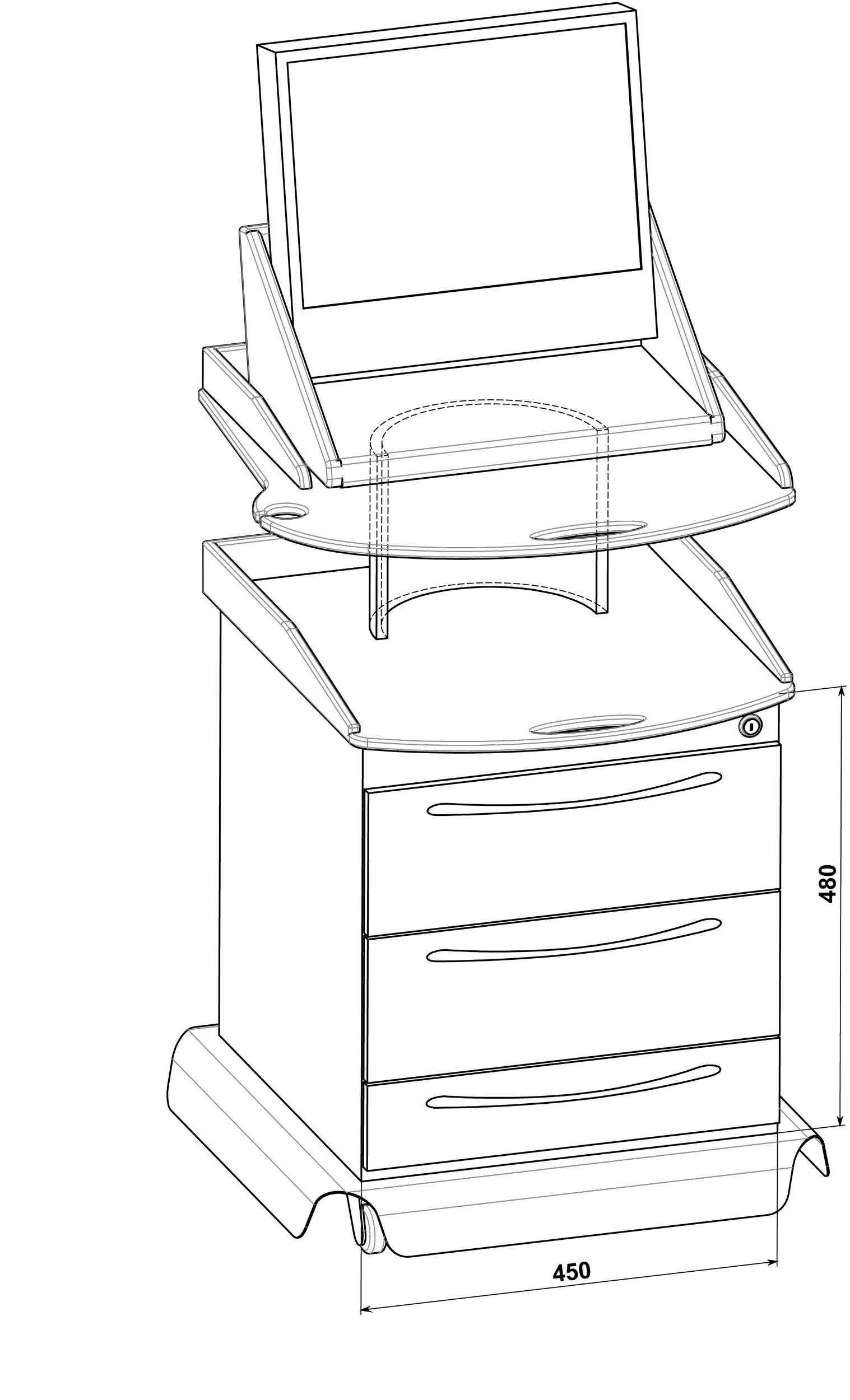 столик для вибромассажера