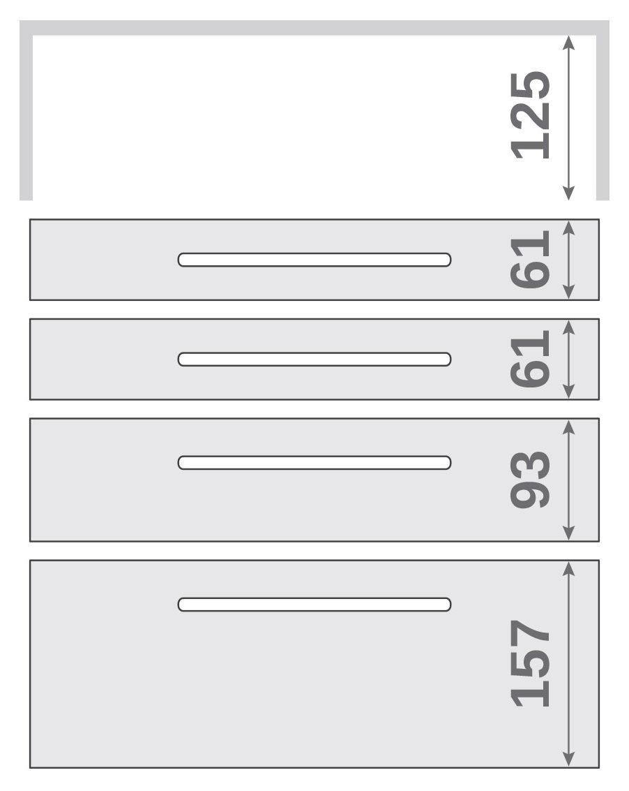 ПАНОК-СОЛО 450 long з полицею (каталожний номер 10.1-10.6), Каталожний номер 10.1