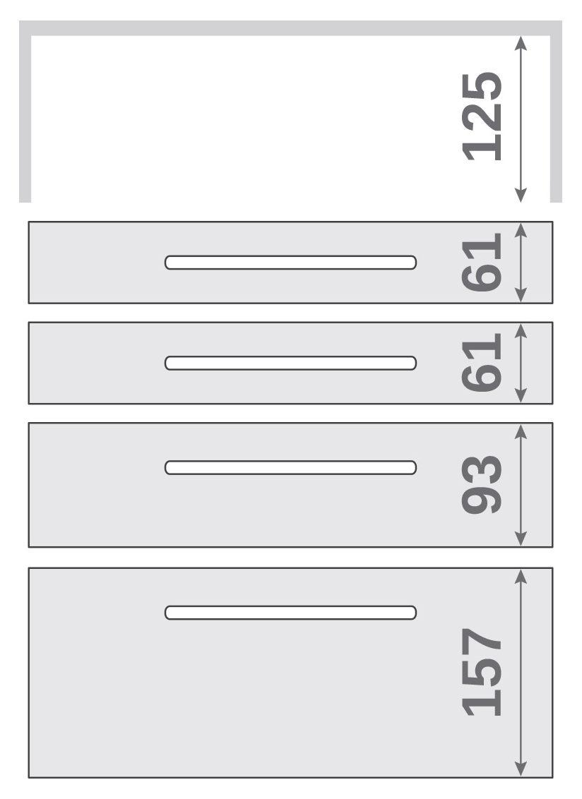 ПАНОК-СОЛО 400 long з полицею (каталожний номер 12.1 -12.6), Каталожний номер 12.1