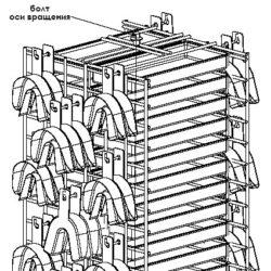 Вертушка №1 30 прямоугольных лотков 50 оттискных ложек