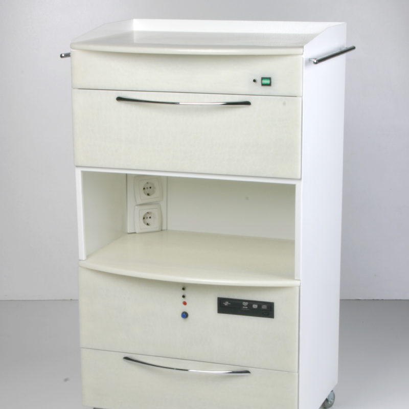 MASTER SHIMMA mobile cabinet with  UV chamber and  PC