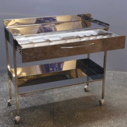 Столик з ящиком з нержавіючої сталі 1000 мм (1 метр)