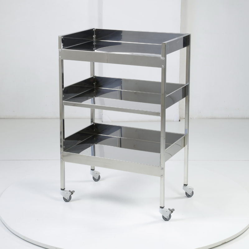 Stainless steel shelving unit with 3 shelves
