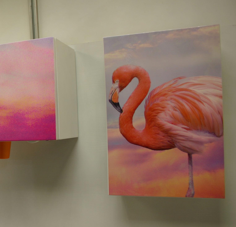 Аптечка и диспенсер » Розовый фламинго»