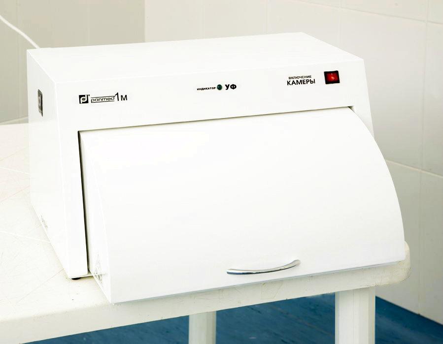 УФ камера для хранения стерильного инструмента ПАНМЕД-1 M (500 мм), ПАНМЕД 1М — с металлической сектор-крышкой