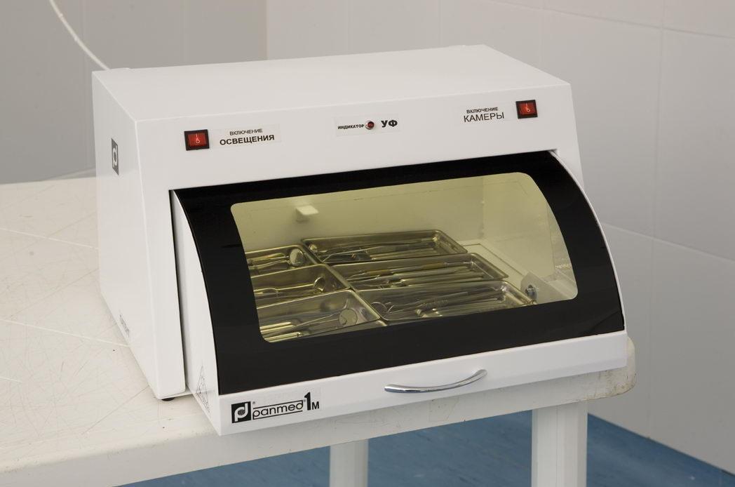 УФ камера для хранения стерильного инструмента ПАНМЕД-1 M (500 мм), ПАНМЕД 1М — со стеклянной сектор-крышкой