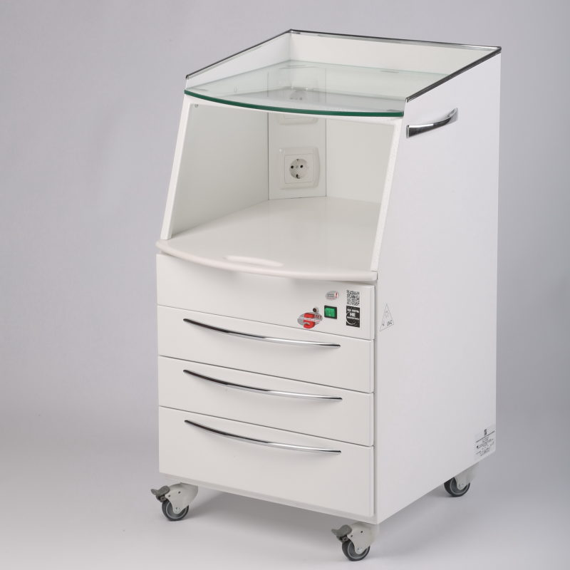 MASTER SHIMMA mobile cabinet with UV chamber