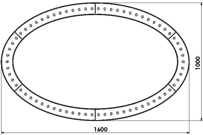Светильник поля «НЛО», Осветитель поля «Элипс НЛО-1600» (Без зеркала)