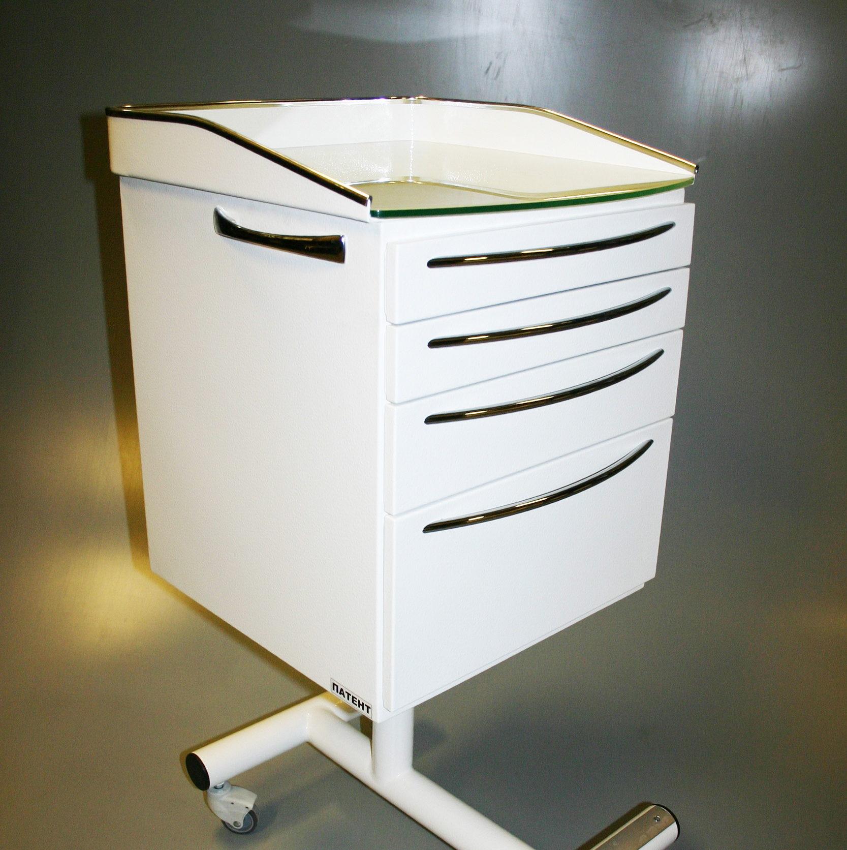 Варианты столешниц для тумб «Панок-Соло», Столешница с высокими металлическими бортами