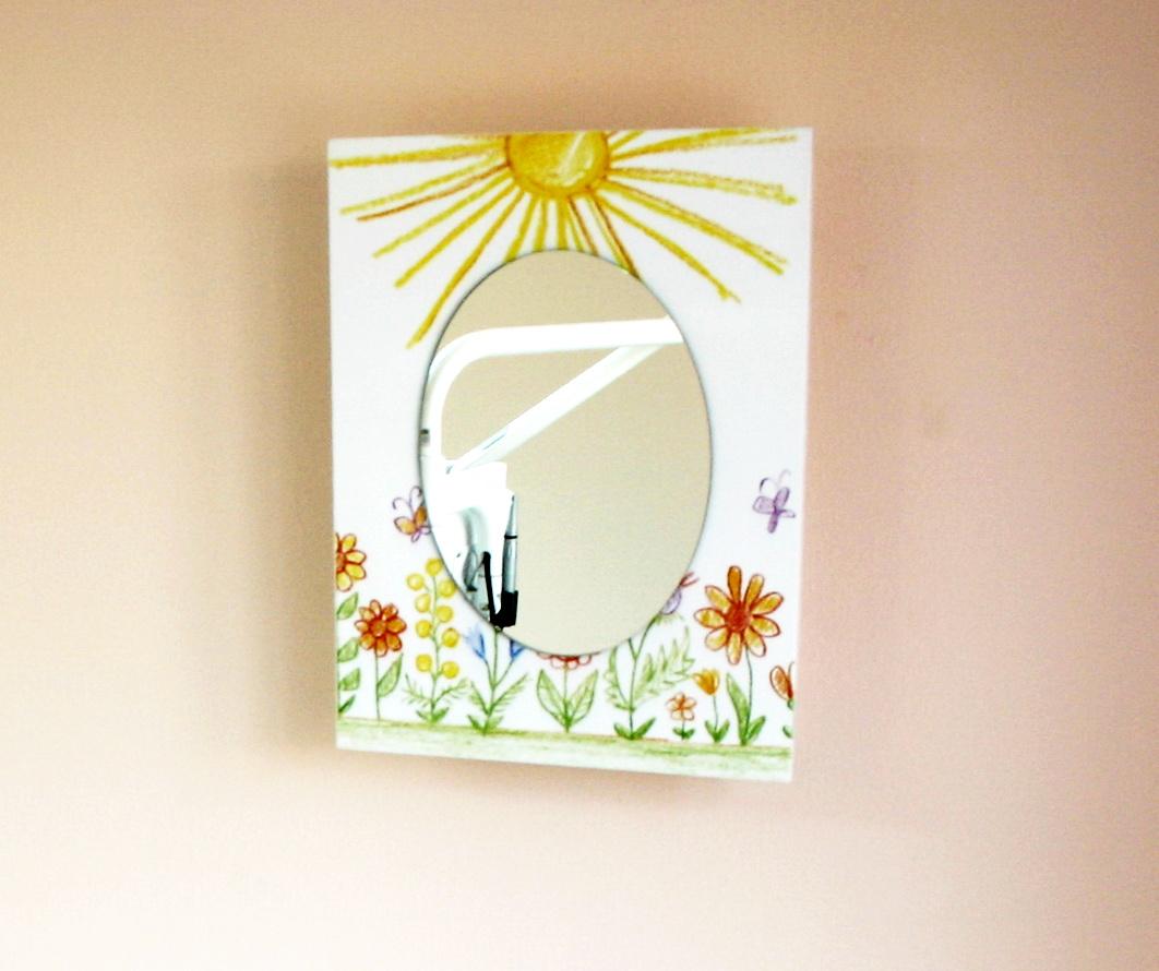 Аптечка- картина з дзеркалом №107