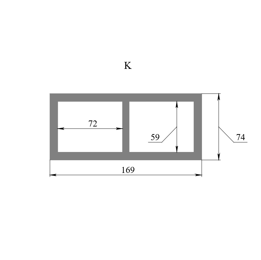 Вставка K ( габариты 169х74 мм)
