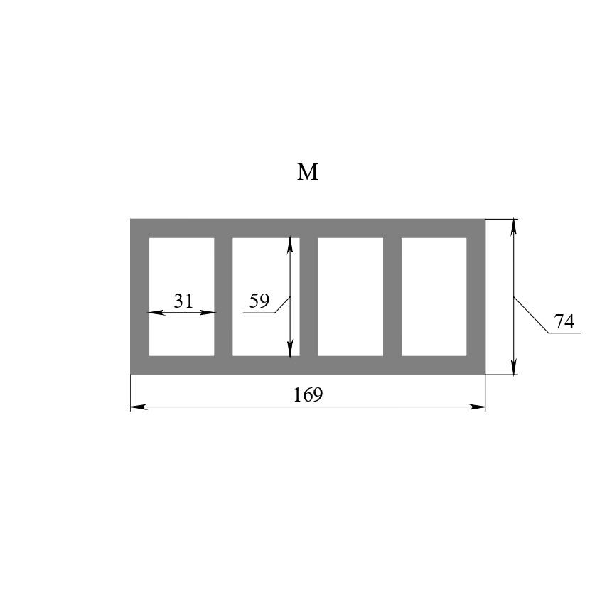Вставка М (габарити 169х74 мм)